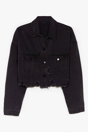Wash You Were Here Distressed Cropped Denim Jacket | Nasty Gal