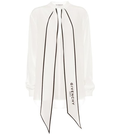 Givenchy - Silk-georgette blouse