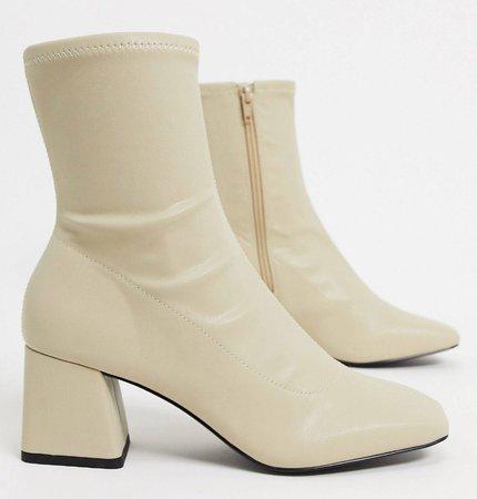 Monki White Boots