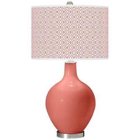 Coral Reef Diamonds Ovo Table Lamp - #62J11 | Lamps Plus