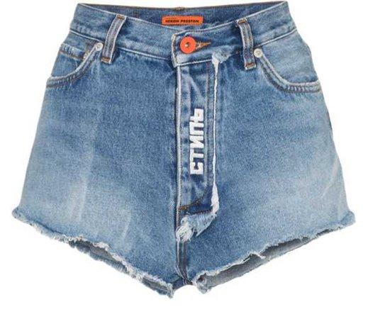 HERON PRESTON shorts denim