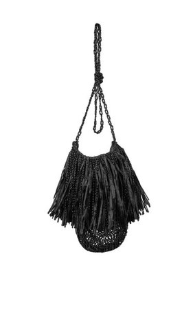 Bazaar Crossbody Fringed Palm Crossbody Bag By Johanna Ortiz | Moda Operandi
