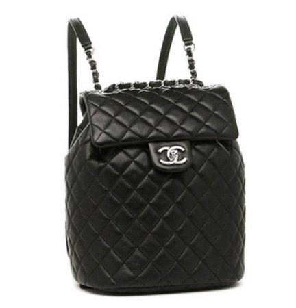 Quilted Black Chanel Backpack