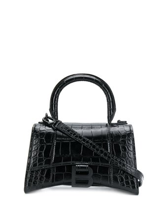 Shop Balenciaga Hourglass XS top handle bag with Express Delivery - FARFETCH