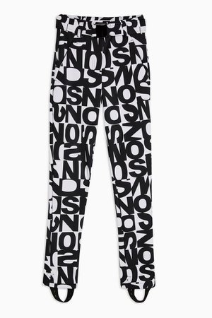 **Black And White Logo Ski Trousers By Topshop SNO | Topshop