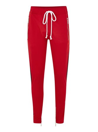 CRIMINAL DAMAGE Red 'Camden' Joggers - Shop All Sale - Sale - TOPMAN USA