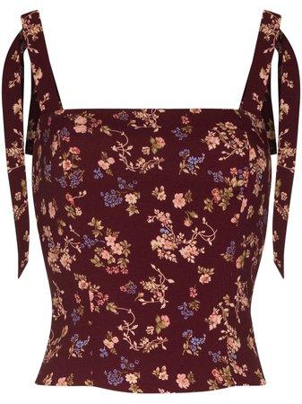 Reformation Ellora floral-print top