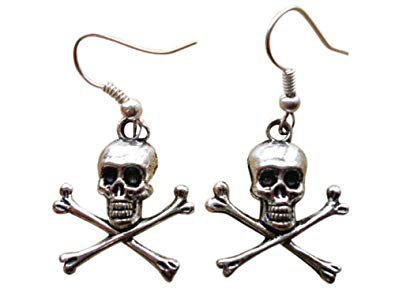pirate earrings skull