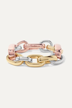 Gold Iconica 18-karat yellow and rose gold and rhodium-plated bracelet   Pomellato   NET-A-PORTER