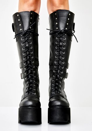 Current Mood Jane Doe Boots | Dolls Kill