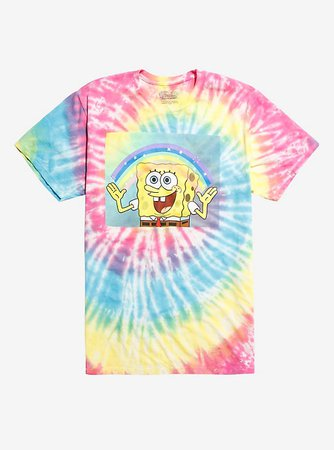 Spongebob Squarepants Imagination Tie Dye T Shirt Shoplook