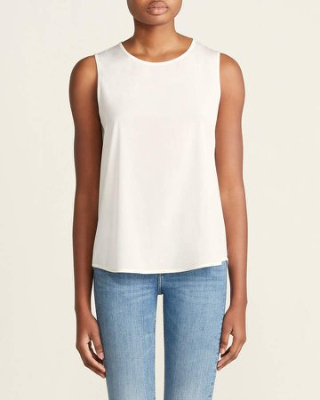 Off White Silk Camisole