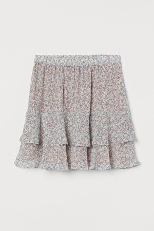 Airy Tiered Skirt - Blue