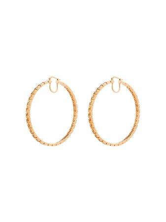 Versace Greca-pattern Hoop Earrings - Farfetch