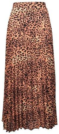 **Tall Multi Coloured Animal Print Pleat Skirt