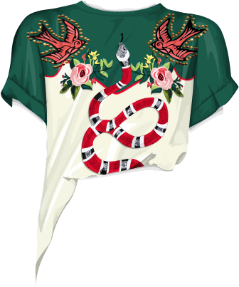 GUCCI Embrodered T-Shirt: VOYAGE | The Meta Doll