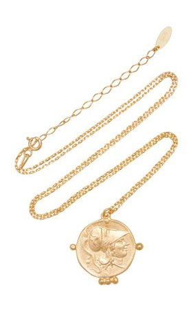 Pegasus Coin Gold-Plated Necklace By Maison Irem | Moda Operandi