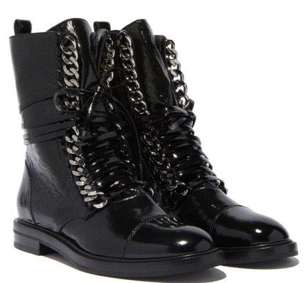 Black Chain Boots