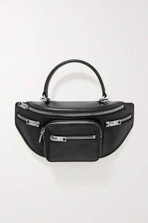 Attica Leather Tote - Black