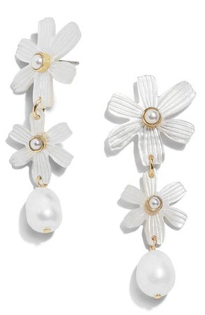 BaubleBar Anemone Genuine Pearl Drop Earrings | Nordstrom