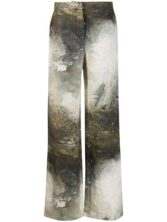 Acne Studios Landscape Painting Print Trousers - Farfetch