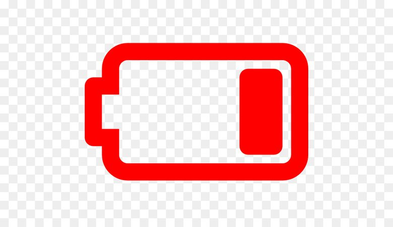 iphone battery icon png red