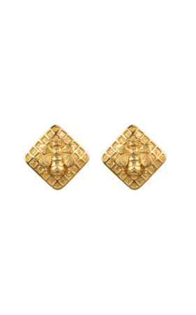 Gold-Plated Bumble Earrings By Valére | Moda Operandi