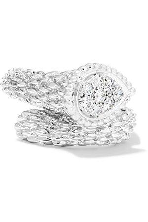 Boucheron | Serpent Bohème 18-karat white gold diamond ring | NET-A-PORTER.COM