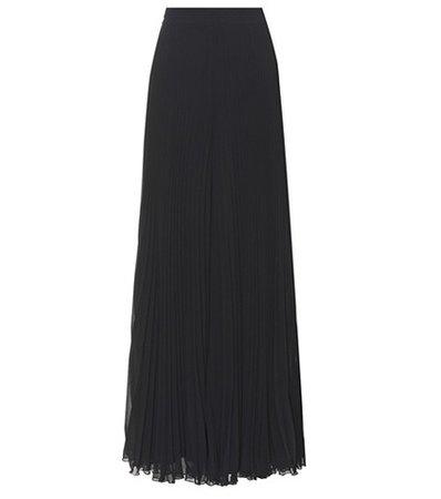Liegi plissé maxi skirt