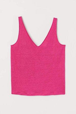 Linen Tank Top - Pink