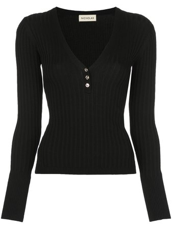 Black Nicholas Ribbed Jersey Long-Sleeve Top   Farfetch.com
