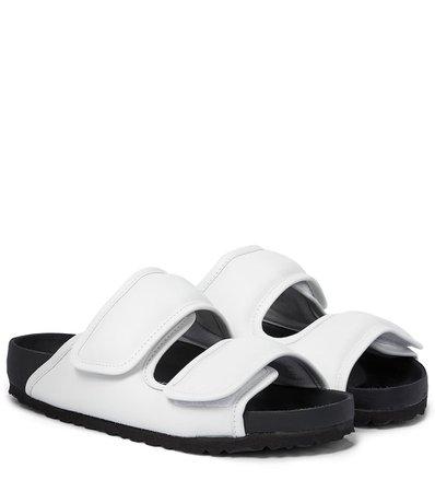 Birkenstock - x CSM Cosy leather sandals | Mytheresa