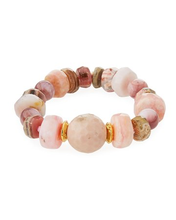Devon Leigh 18k Rondelle & Ball Stretch Bracelet