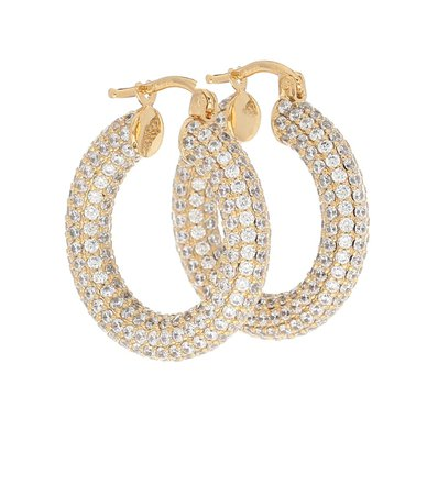 Crystal-Embellished Hoop Earrings - Jil Sander | Mytheresa