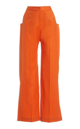 MATERIEL High Waisted Flare Pants