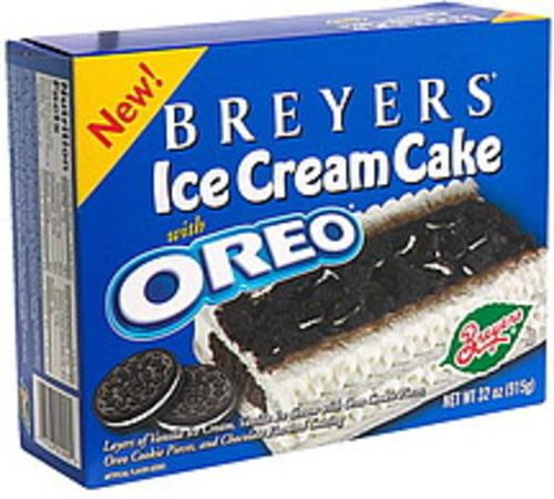 Breyers Ice Cream Cake with Oreo - 32 oz, Nutrition Information | Innit