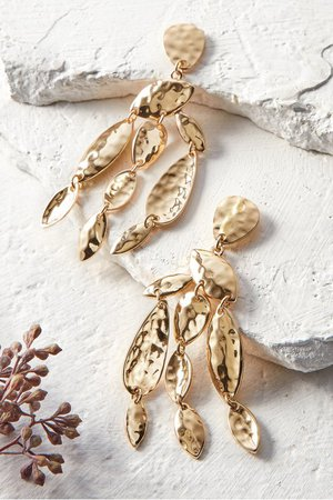 Willow Chandelier Earrings - Gold Cascading Branches Earrings | Soft Surroundings