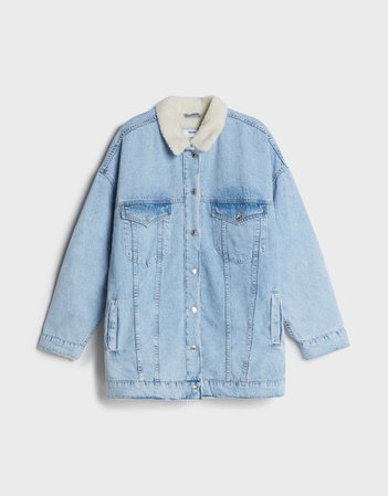 Oversized denim jacket - Outerwear - Woman | Bershka