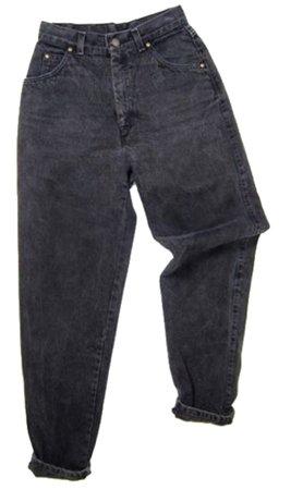 black baggy jeans (transparent background)