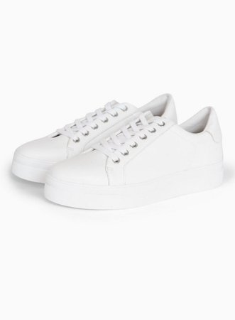 CANDY White Lace Up Trainers | Topshop