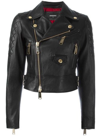 Dsquared2 Quilted Detail Biker Jacket - Farfetch