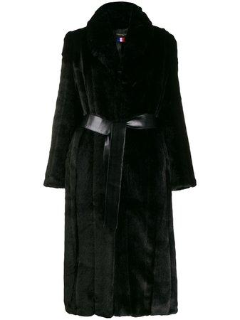 Shop black La Seine & Moi Lea coat with Express Delivery - Farfetch