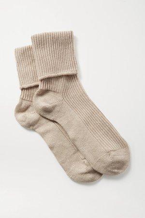 Johnstons of Elgin | Ribbed cashmere socks | NET-A-PORTER.COM