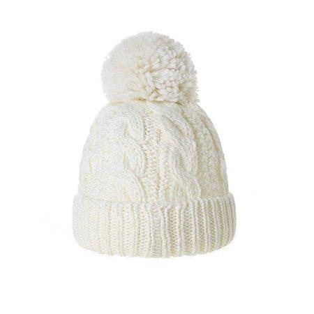 Amazon.com: Moon Kitty Girls Skull Hats Winter Fleece Lining Beanie Hats for Girls Off White: Clothing