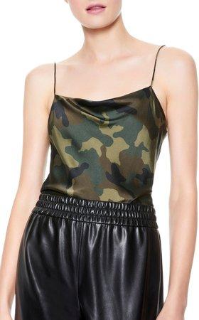 Harmon Cowl Slip Tank Top