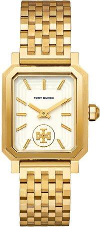 Robinson Watch, Gold-Tone/Cream, 27 X 29 MM