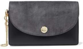Suede And Leather Clutch