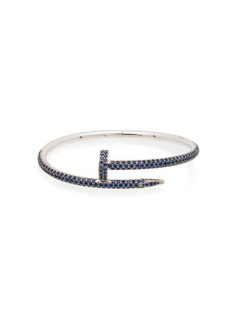 MAD Paris customised 18kt white gold Cartier Juste En Clou bracelet
