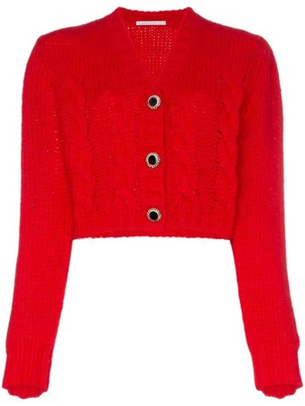 ALESSANDRA RICH cropped knit cardigan