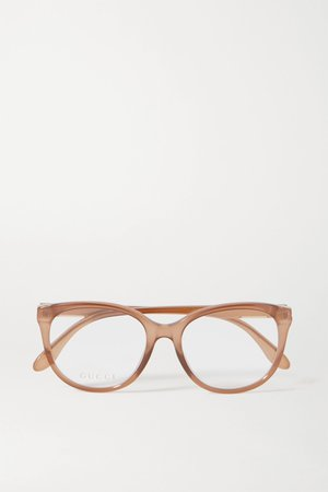 Brown Round-frame acetate optical glasses | Gucci | NET-A-PORTER